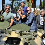 `The Expendables 3` Stars' Perform Stunts On The Way To Cannes