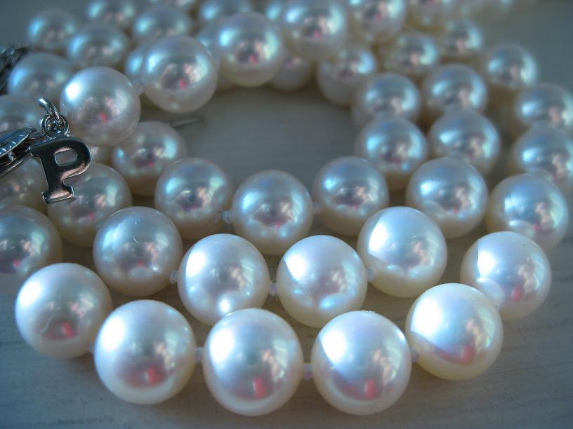 Strand of white pearls