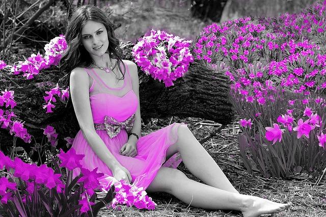purple dress garden