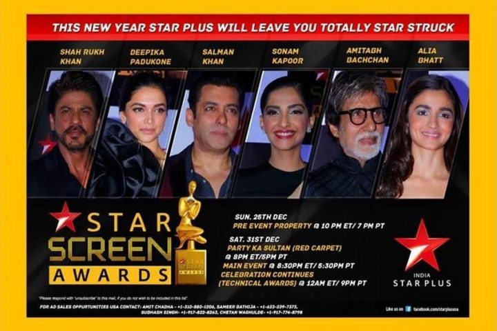 Watch 23rd Star Screen Awards Live On Star Plus