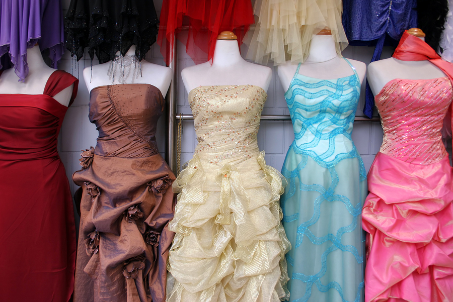 evening gown dress selection