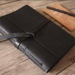 leather scrapbook album